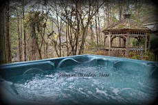 Private Hot tub wooded/mountain view